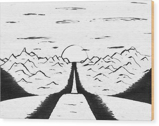 Narrow Gate Wood Print by Adam Wells