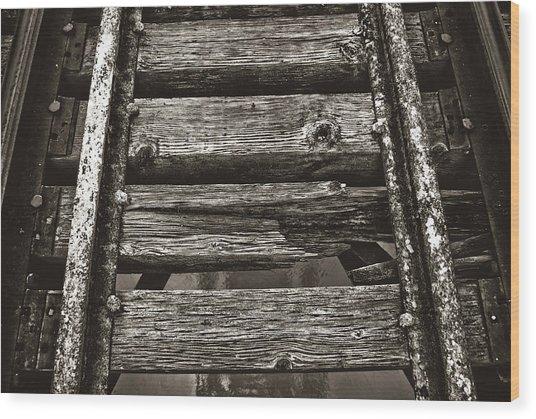 Narrow Gauge Tracks #photography #art #trains Wood Print