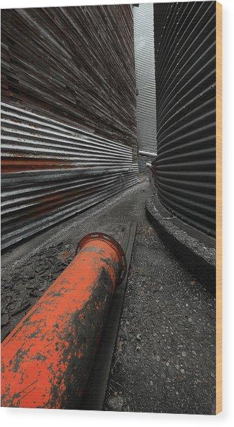 Narrow Passage Wood Print