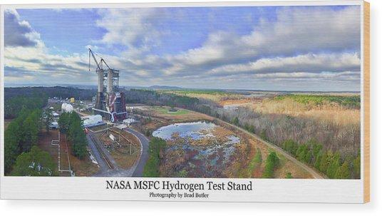 Nasa Msfc Hydrogen Test Stand - Original Wood Print