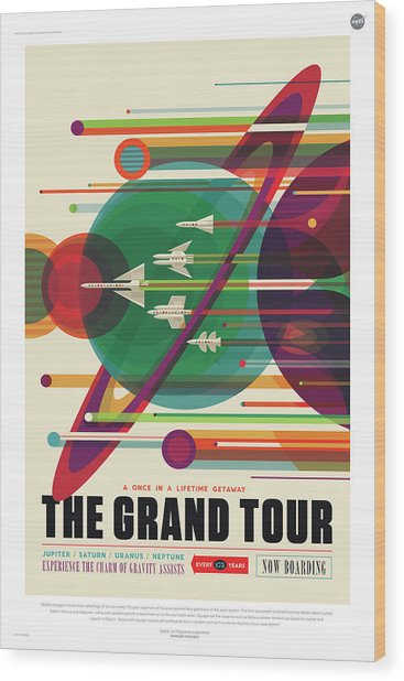 Nasa The Grand Tour Poster Art Visions Of The Future Wood Print