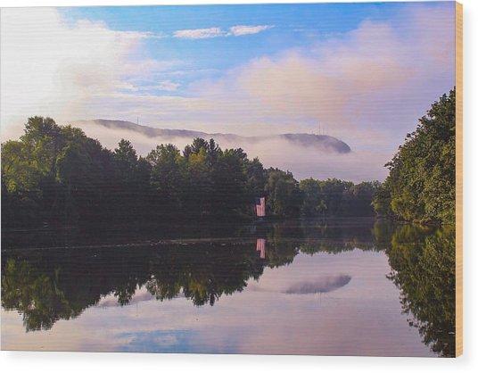 Nashawannuck Pond, Easthampton, Ma Wood Print
