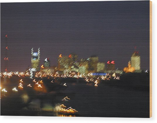 Nashville At Sixty Five Mph Wood Print