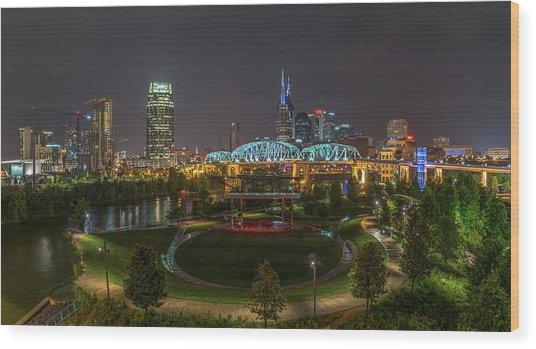 Nashville  Wood Print