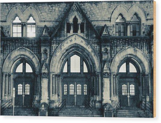 Nashville Customs House Wood Print