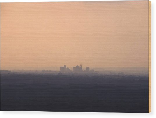 Nashville From The Distance Wood Print by Randy Muir
