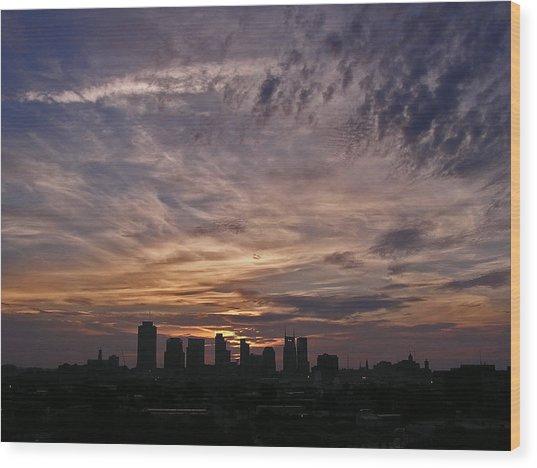 Nashville Sunrise - 2 Wood Print by Randy Muir