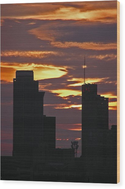 Nashville Sunrise - 3 Wood Print by Randy Muir