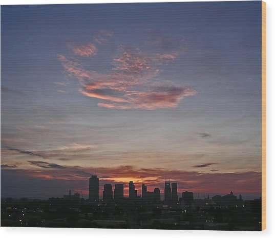 Nashville Sunrise Wood Print by Randy Muir