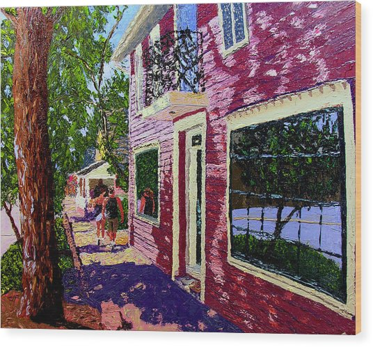Nashville Upside Down Wood Print by Stan Hamilton
