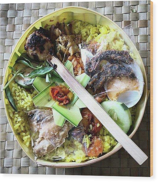 Nasi Yasa, A Special Rice Dish That Is Wood Print by Arya Swadharma