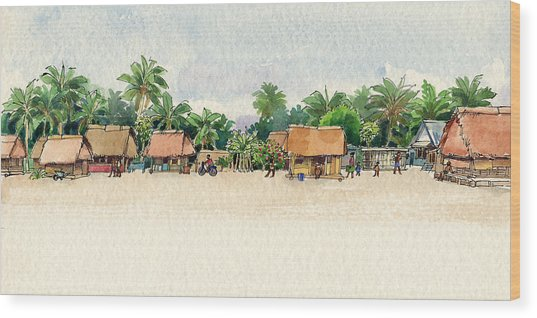 Nassau, Cook Islands, South Pacific Wood Print