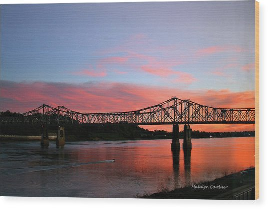 Natchez Sunset Wood Print