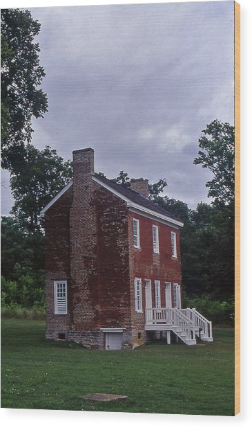 Natchez Trace Gordon House - 3 Wood Print by Randy Muir