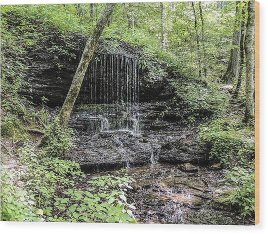 Natchez Trace Waterfall Wood Print