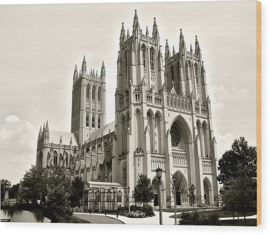 National Cathedral In Washington Dc Wood Print