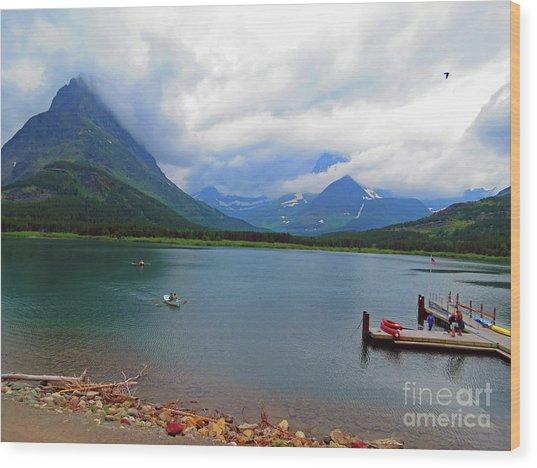 National Parks. Serenity Of Mcdonald Wood Print