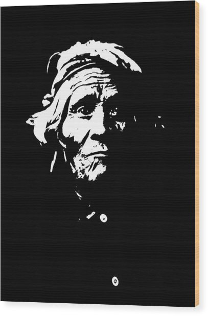 Native American 1 Curtis Wood Print