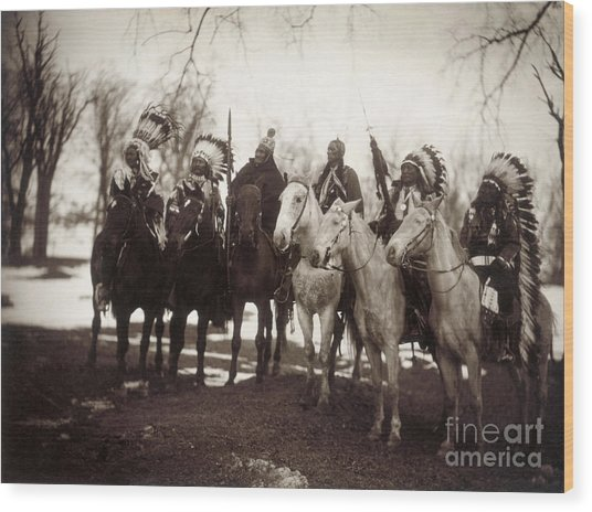 Native American Chiefs Wood Print