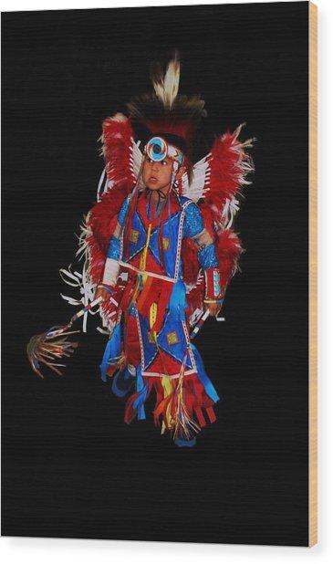 Native American Dancer Wood Print