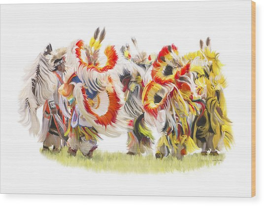 Native Color In Motion Wood Print