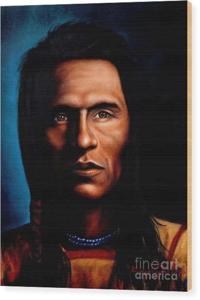 Native American Indian Soaring Eagle Wood Print