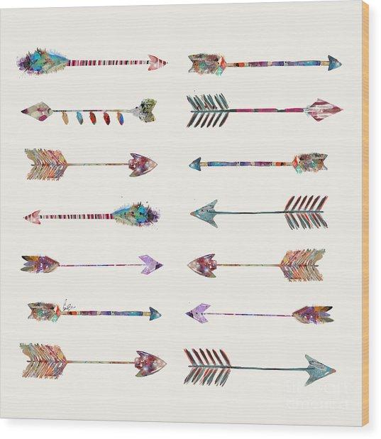 Native Arrows Wood Print