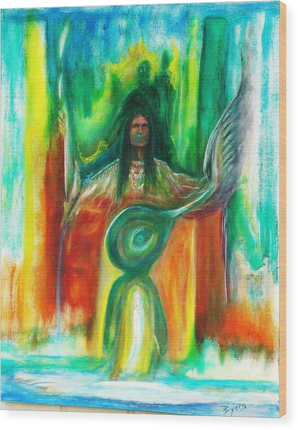 Native Awakenings Wood Print