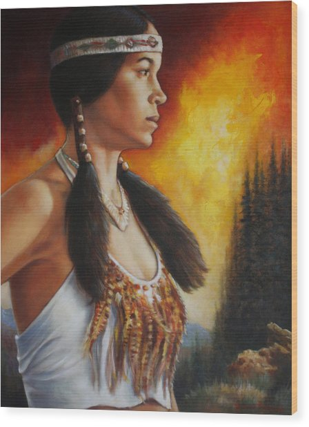 Native Pride Wood Print