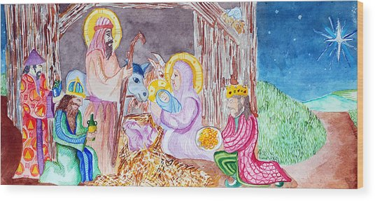 Nativity Wood Print