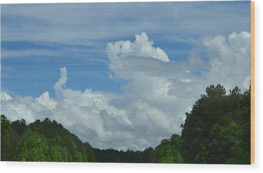 Natural Clouds Wood Print