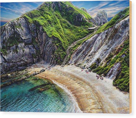 Natural Cove Wood Print
