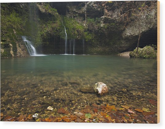 Natural Falls Wood Print