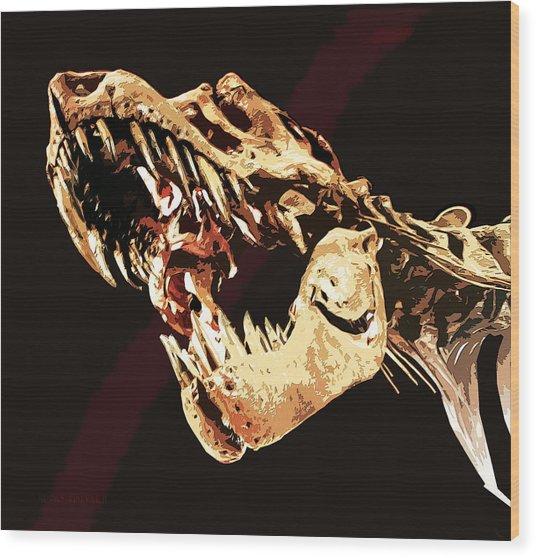 Natural History- T Rex Wood Print