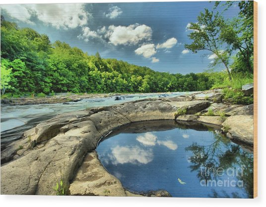 Wood Print featuring the photograph Natural Swimming Pool by Adam Jewell