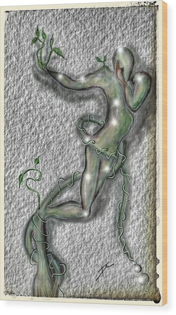 Wood Print featuring the digital art Nature And Man by Darren Cannell