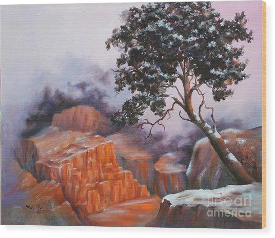 Nature At Rocky Kingdom Wood Print