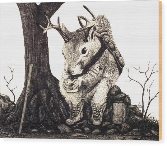 Nature Hike Wood Print