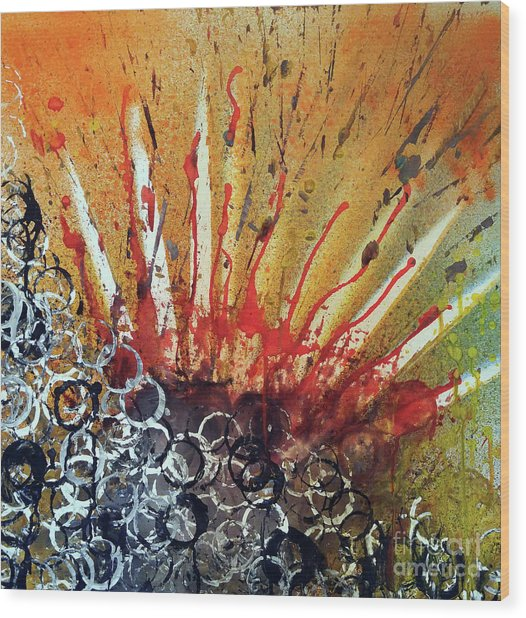 Nature Is Life Life Is Nature Be Bright Be Bold Series Wood Print