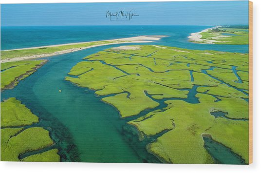 Nature Kayaking Wood Print