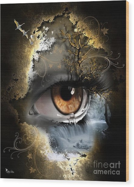 Natures Eye Wood Print