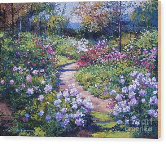 Nature's Garden Wood Print