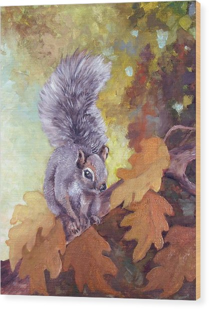 Nature's Guardian Wood Print by Audie Yenter