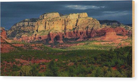 Nature's Spotlight, Sedona, Arizona Wood Print