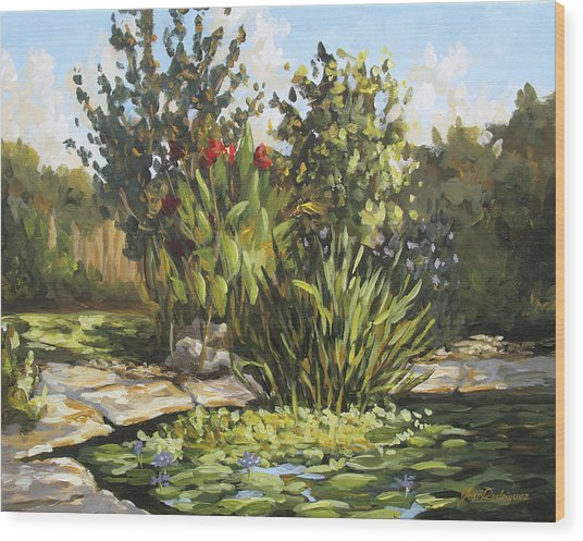 Natures Water Garden Wood Print