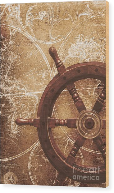Nautical Exploration  Wood Print