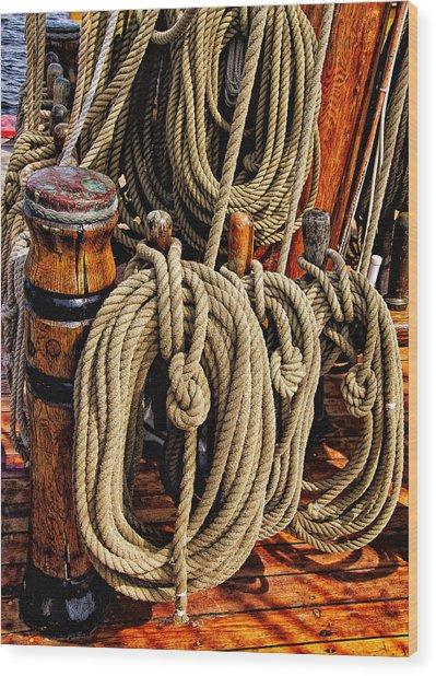 Nautical Knots 16 Wood Print