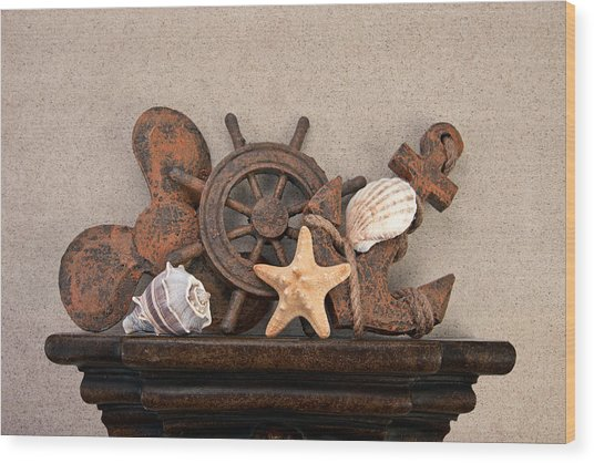 Nautical Still Life IIi Wood Print