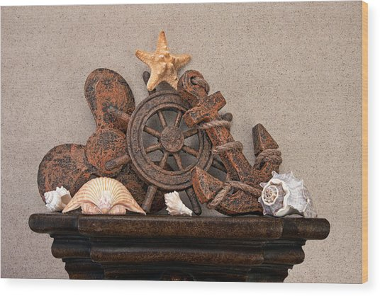 Nautical Still Life Iv Wood Print