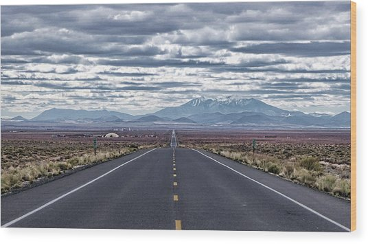Navajo Route 15 Wood Print